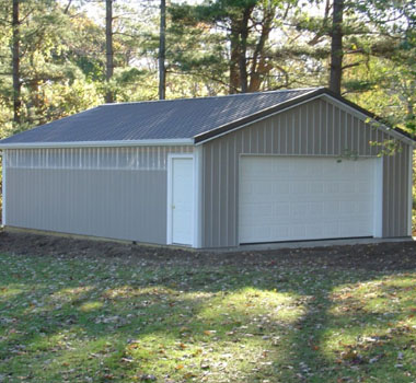 garage with side door